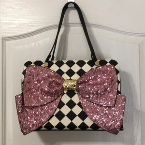 Gorgeous betsey Johnson sequin bow purse